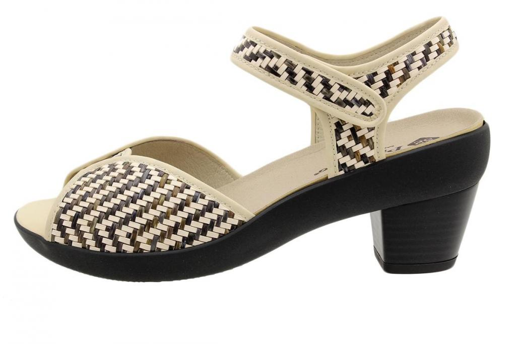 Removable Insole Sandal Multi Beige Woven 190449