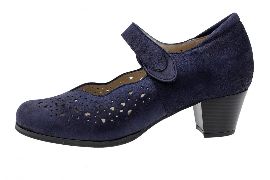 Mary-Jane Blue Metal Suede 190463