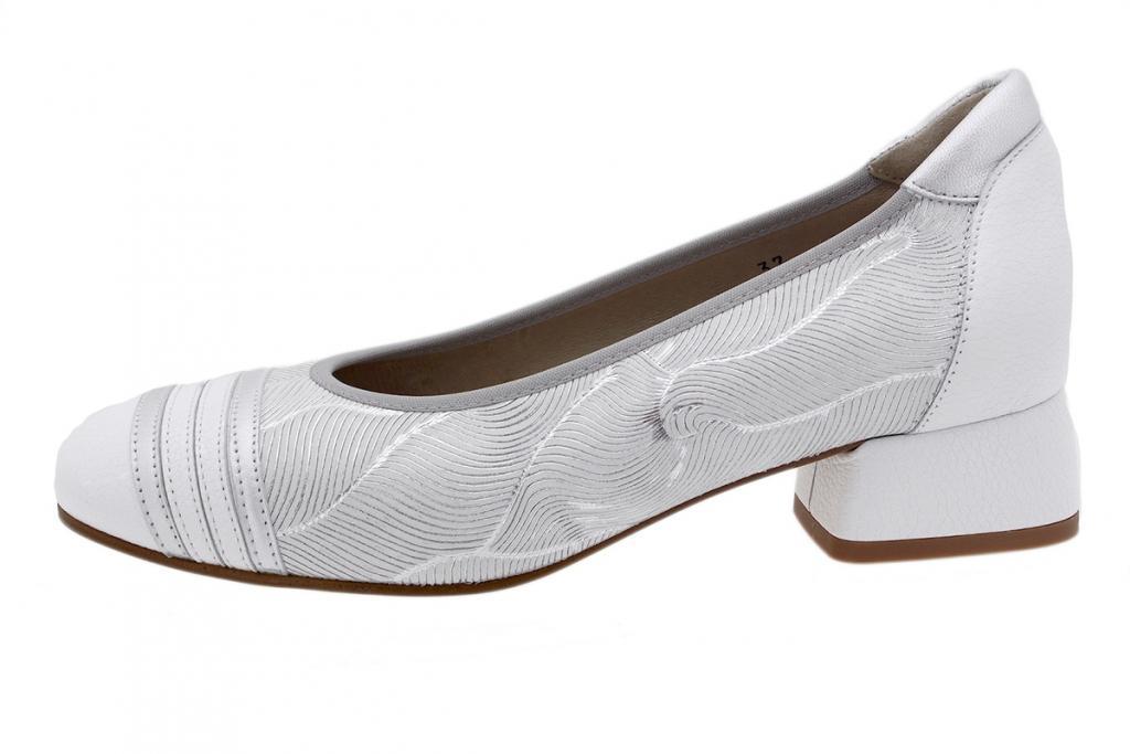 Flat shoe White Leather 190532