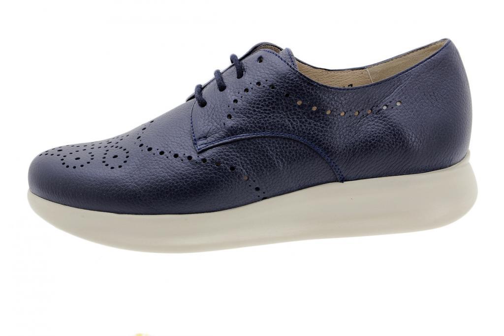 Lace-up Shoe Blue Leather 190751