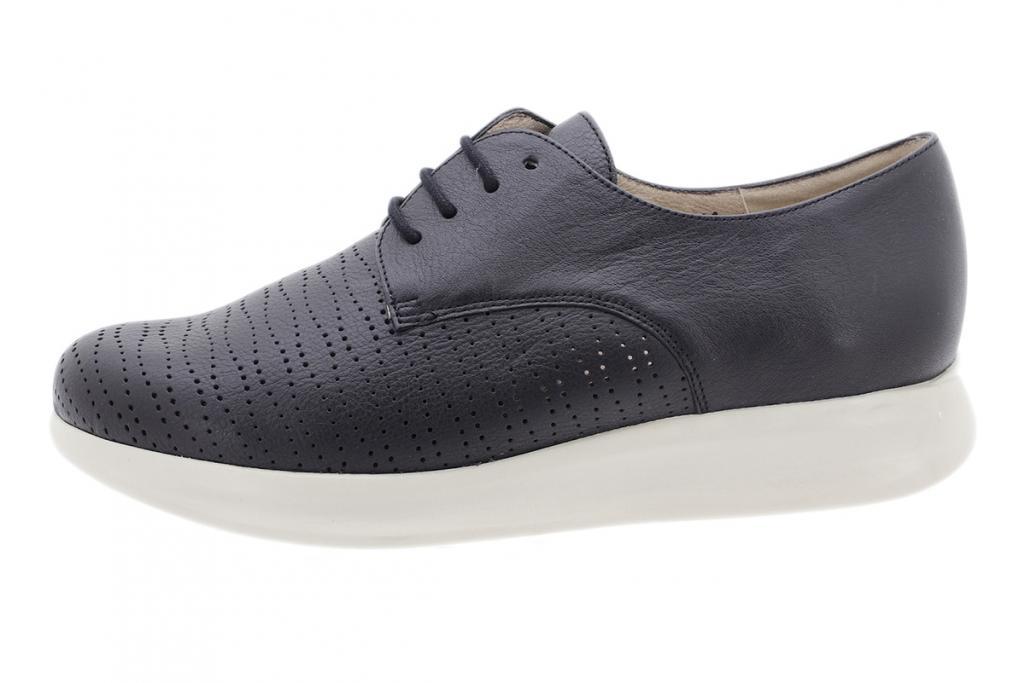 Lace-up shoe Black Leather 190752