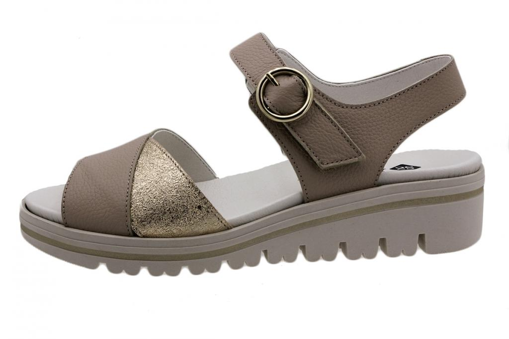 Removable Insole Sandal Beige Leather 190778