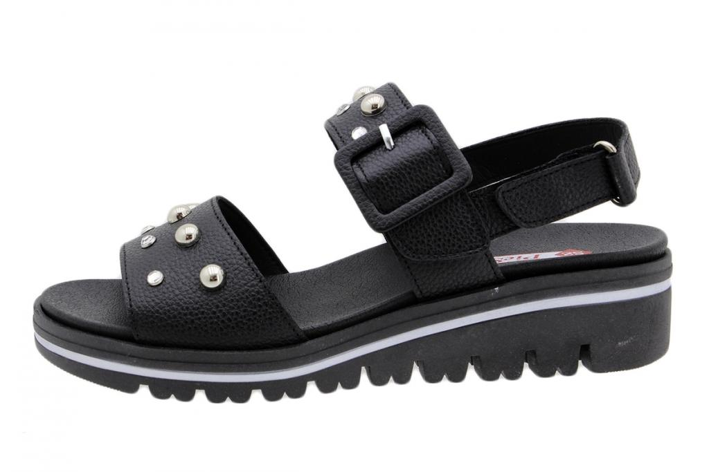 Removable Insole Sandal Black Leather 190780