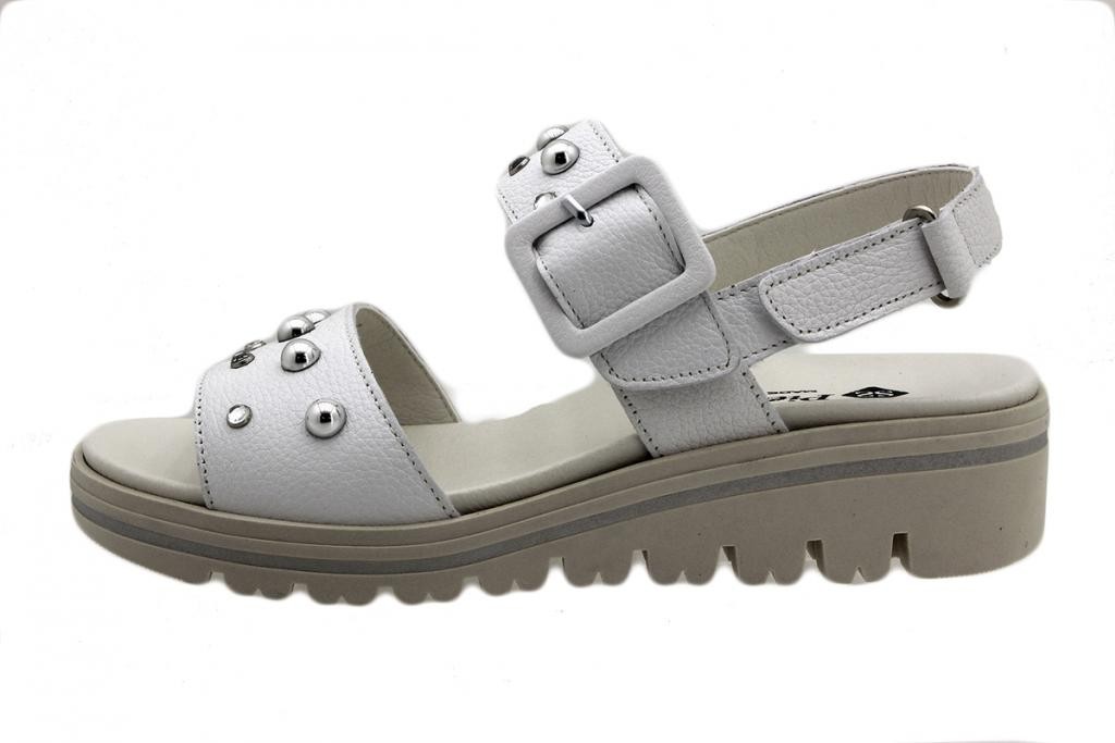 Removable Insole Sandal White Leather 190780