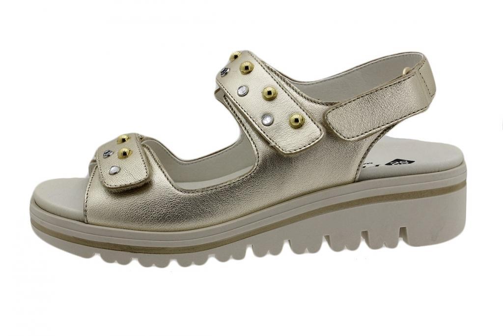 Removable Insole Sandal Platinum Metal 190781