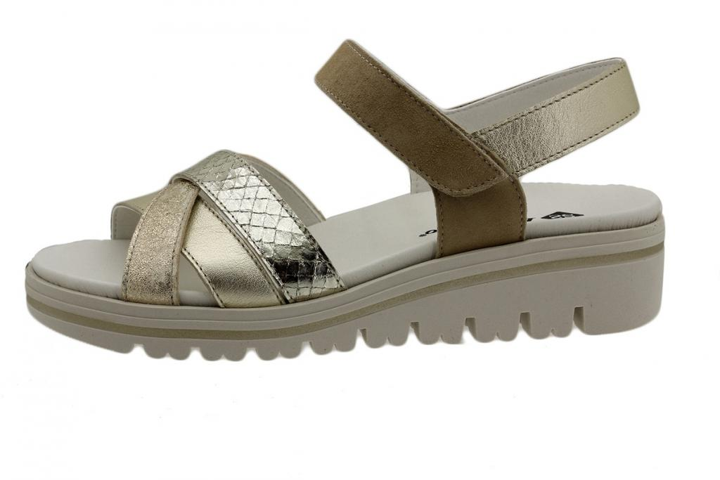 Removable Insole Sandal Platinum Metal 190784