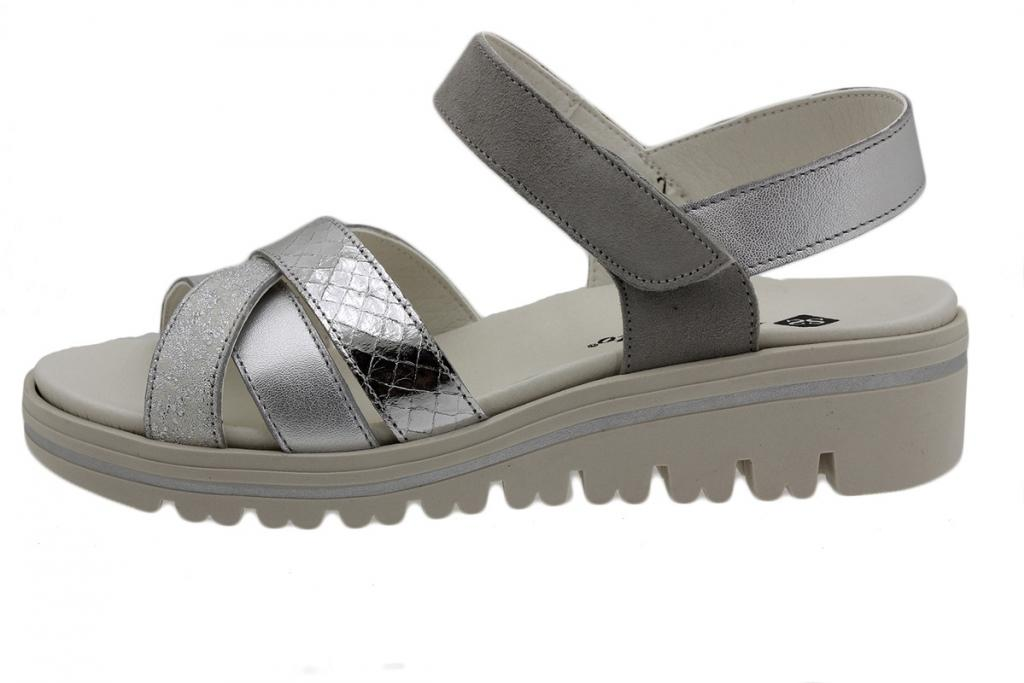Removable Insole Sandal Silver Metal 190784