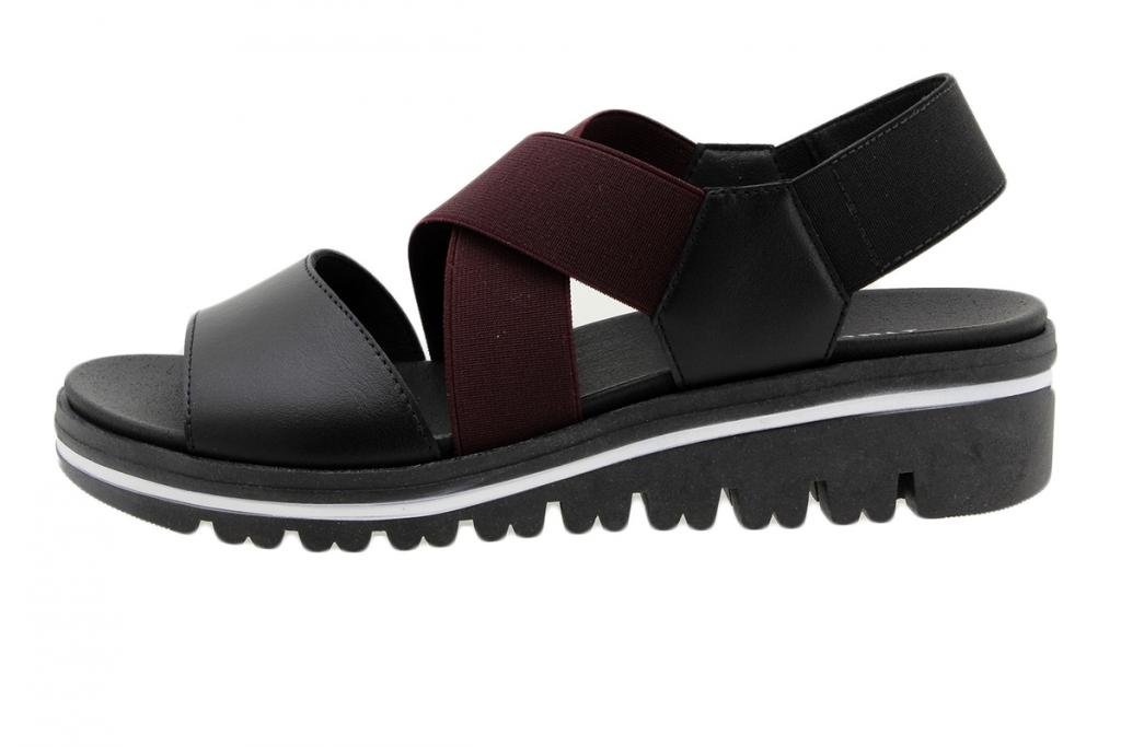 Removable Insole Sandal Black Leather 190787