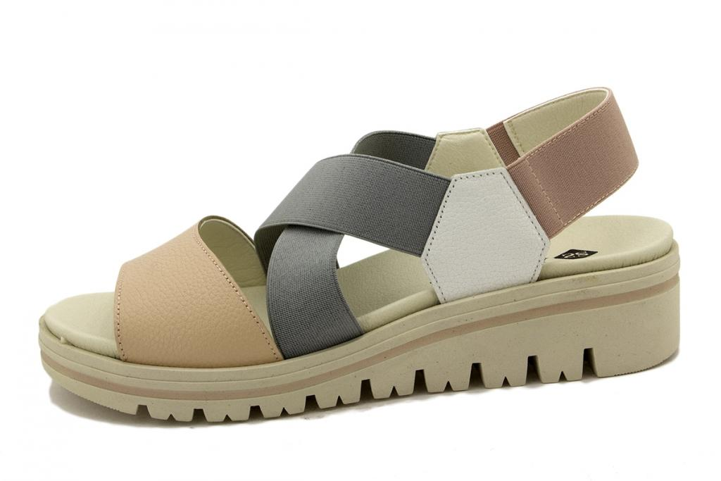 Removable Insole Sandal Nude Leather 190787