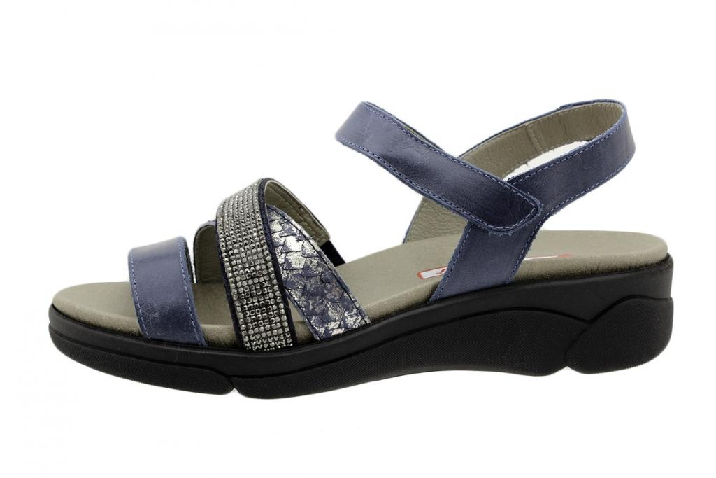 Removable Insole Sandal Blue Leather 190795