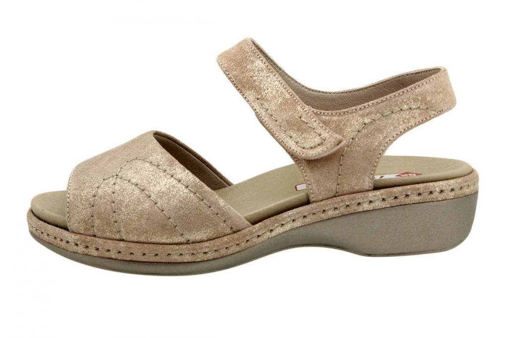 Removable Insole Sandal Nude Metal Suede 190801