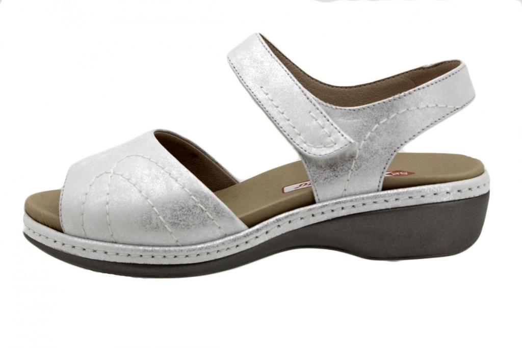 Removable Insole Sandal Pearl Metal Suede 190801