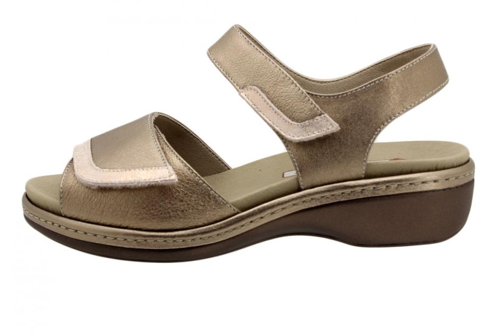 Removable Insole Sandal Nude Metal 190802