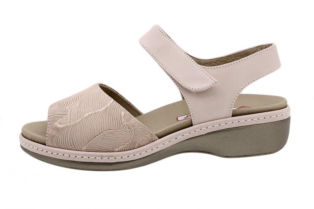 Removable Insole Sandal Nude Leather 190807