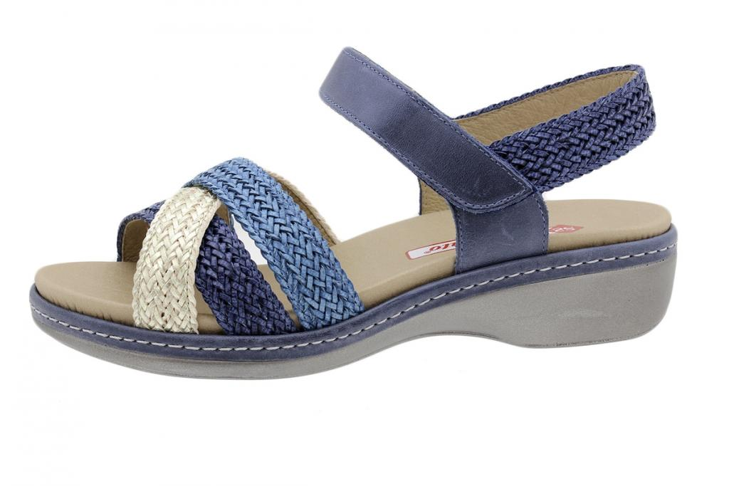 Removable Insole Sandal Platinum-Blue-Turquoise Interlaced 190809