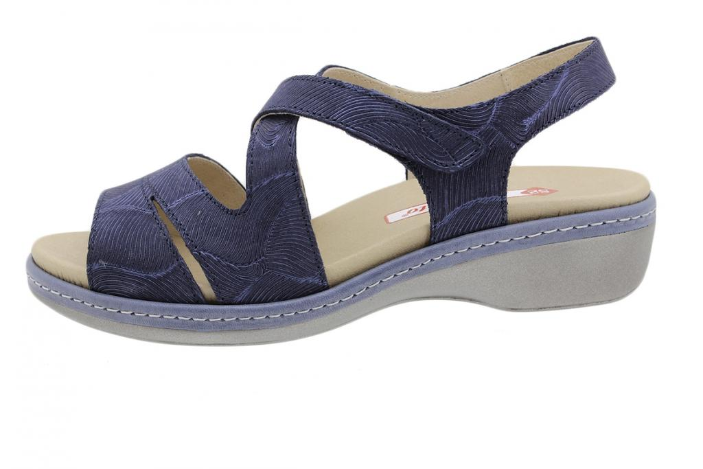 Removable Insole Sandal Blue Leather 190812