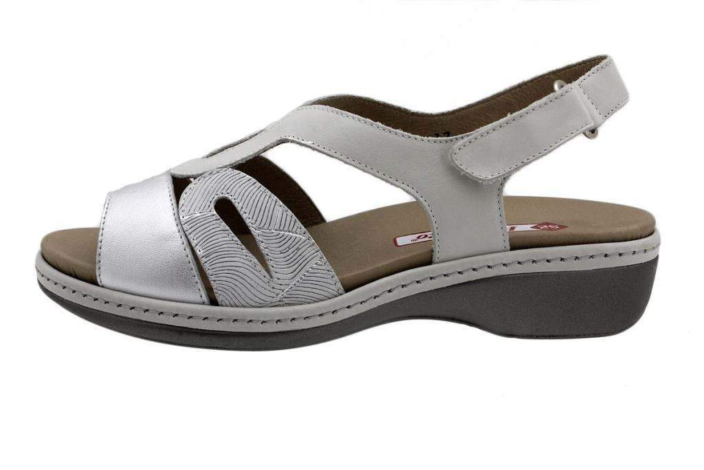 Removable Insole Sandal Silver Metal 190815