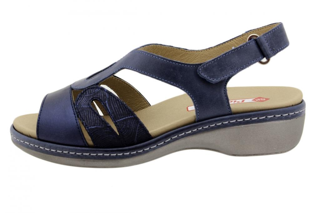 Removable Insole Sandal Blue Metal 190815