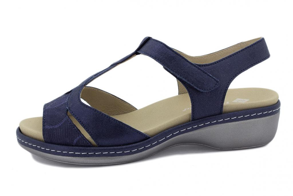 Removable Insole Sandal Blue Leather 190820
