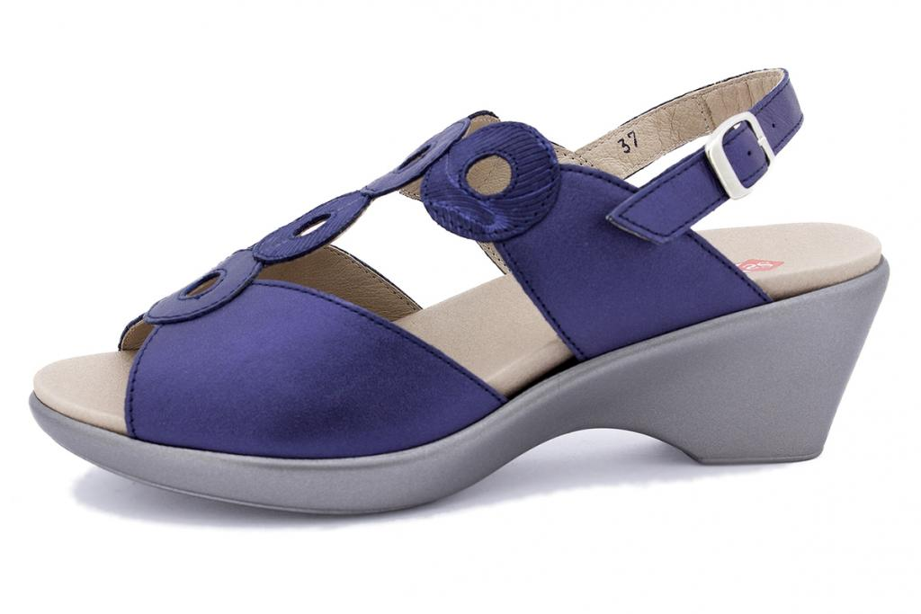 Removable Insole Sandal Blue Patent 190854