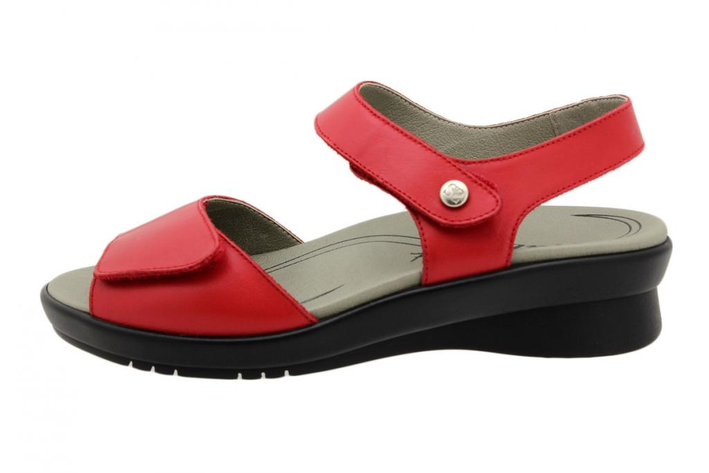 Removable Insole Sandal Red Leather 190892