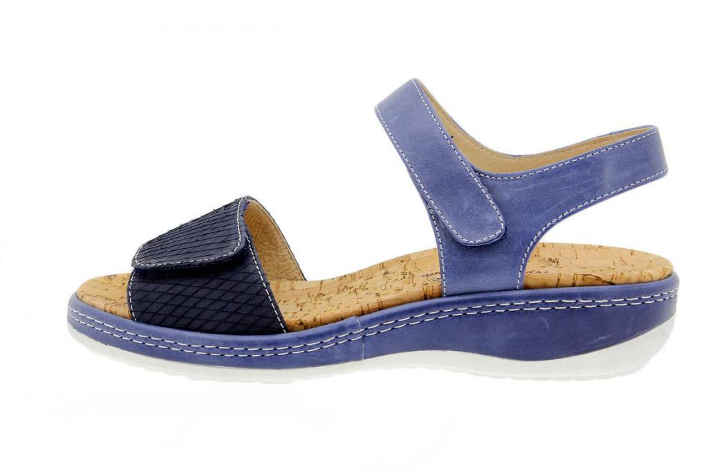 Removable Insole Sandal Print Blue 1909