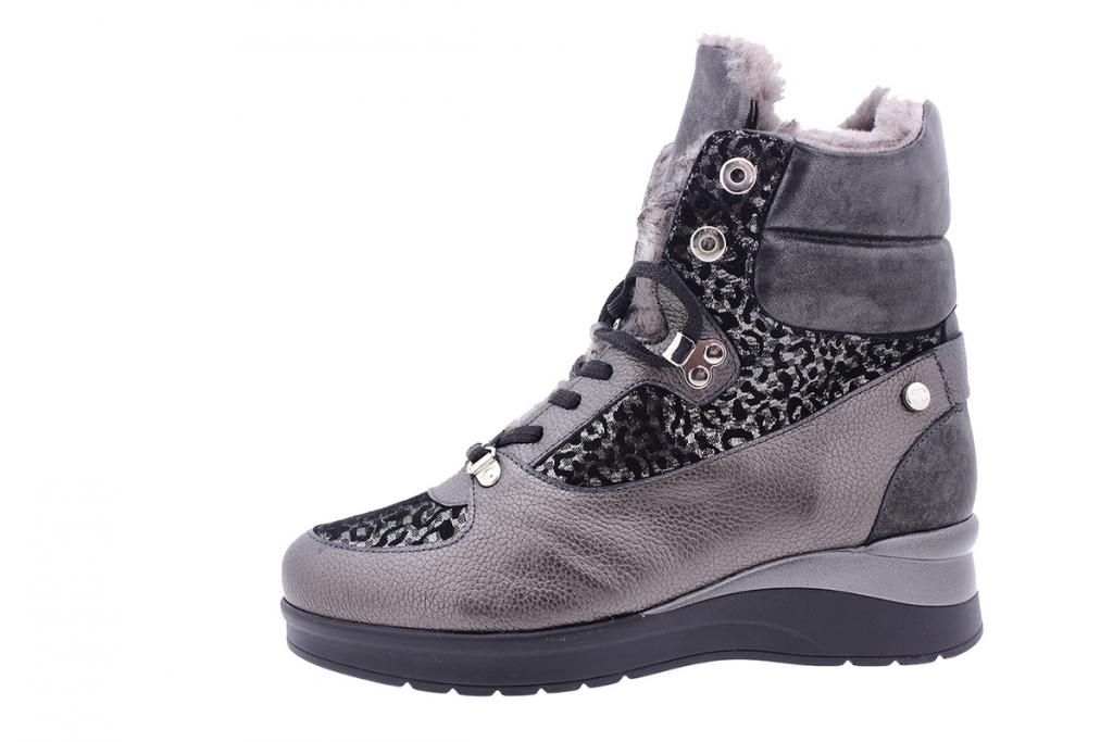 Ankle boot Grey Leather 195093