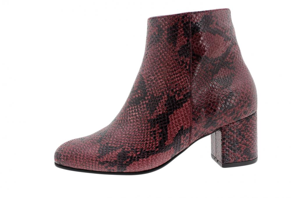 Ankle Boot Bordeaux Snake 195315