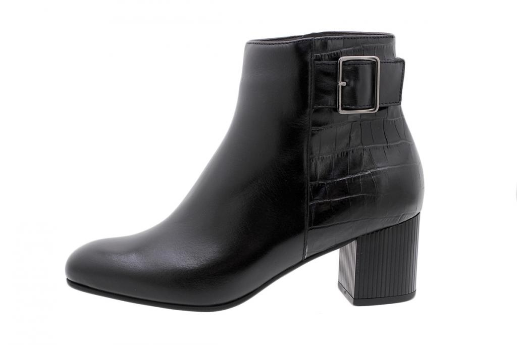Ankle Boot Black Leather 195316