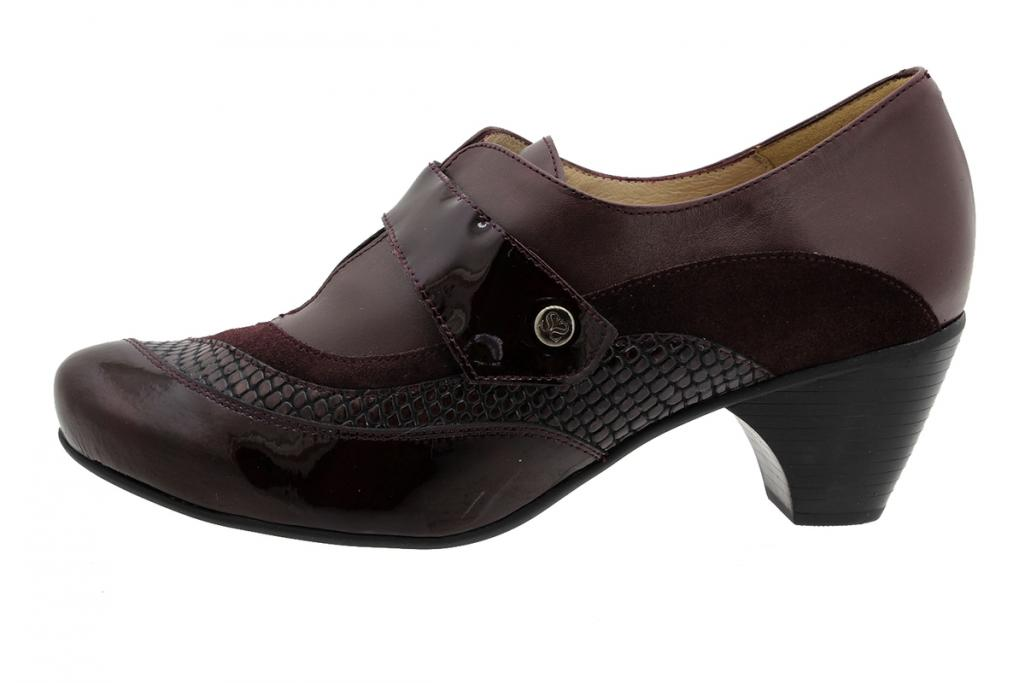 Velcro Shoe Bordeaux Patent 195406