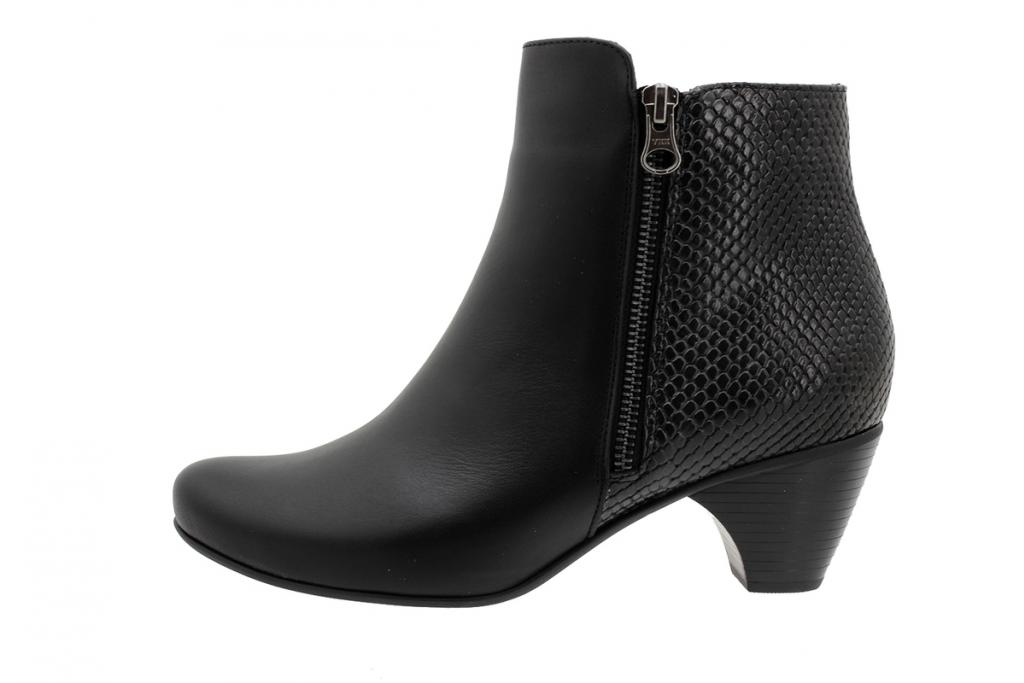 Ankle Boot Black Leather 195415