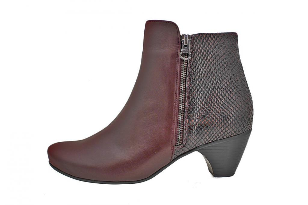 Ankle Boot Bordeaux Leather 195415