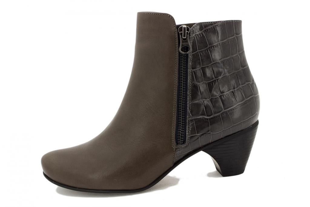 Ankle boot Grey Leather 195415