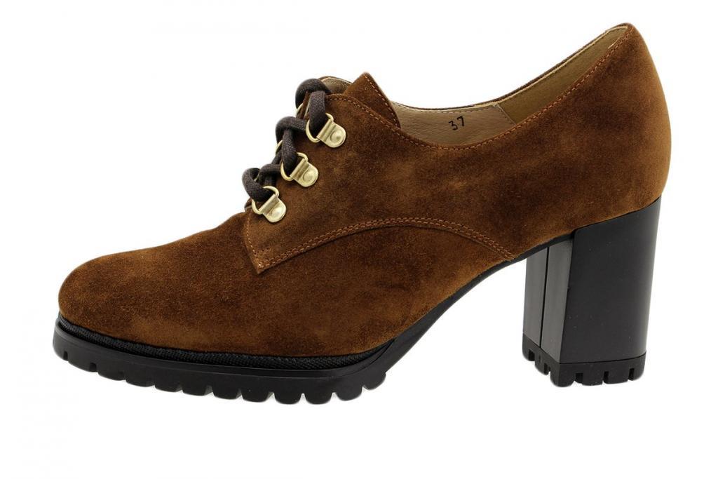 Lace-up Shoe Tan Suede 195421