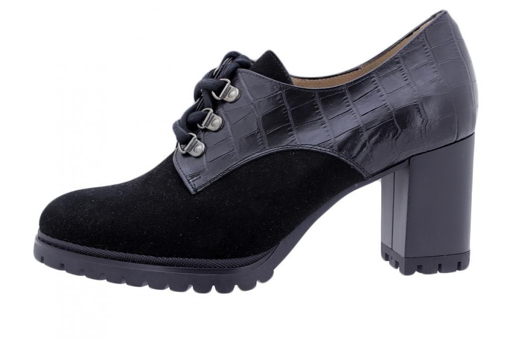 Lace-up Shoe Black Suede 195421
