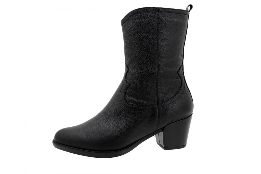 Ankle Boot Black Leather 195452