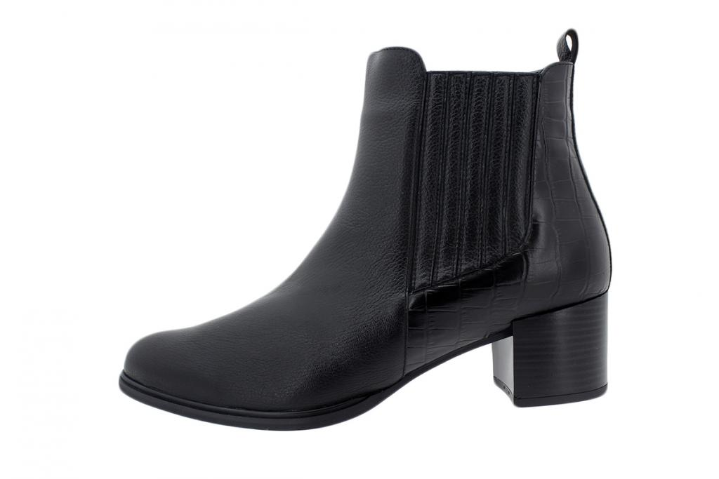 Ankle Boot Black Leather 195454