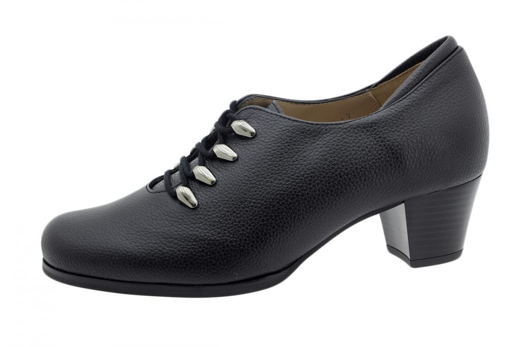 Lace-up Shoe Black Leather 195461