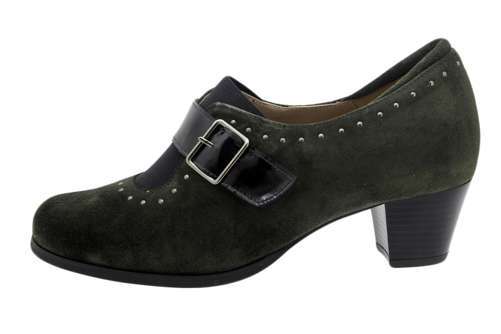 Ankle Boot Shoe Green Suede 195462