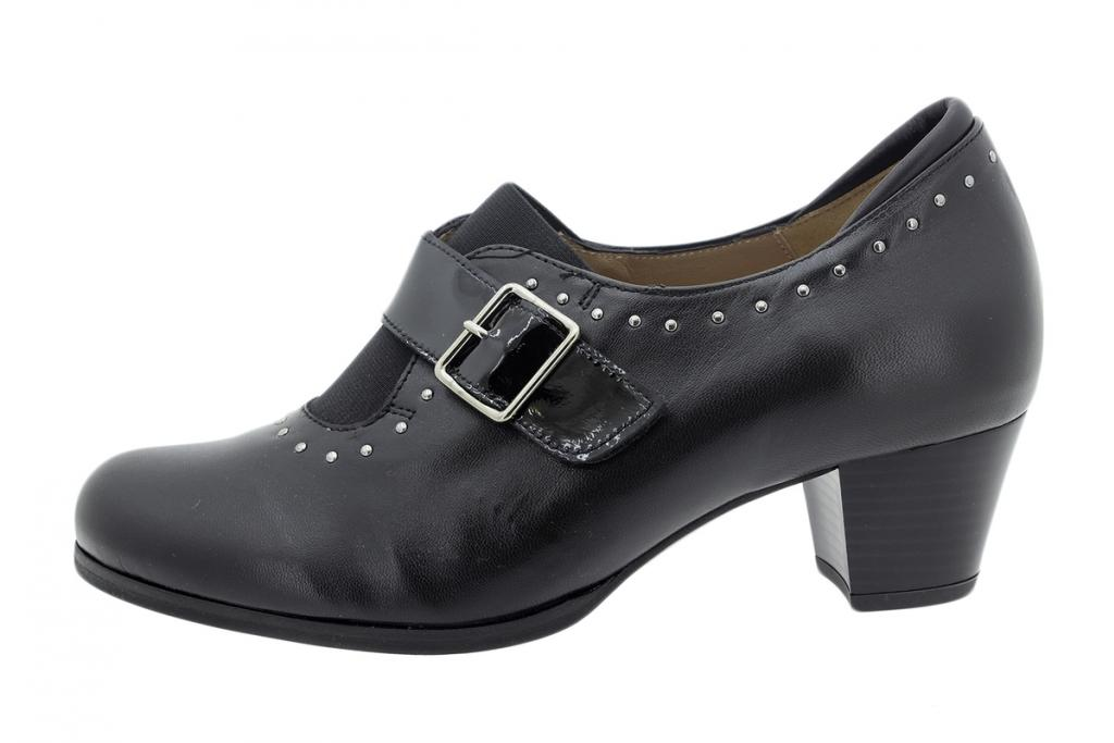 Ankle Boot Shoe Black Leather 195462