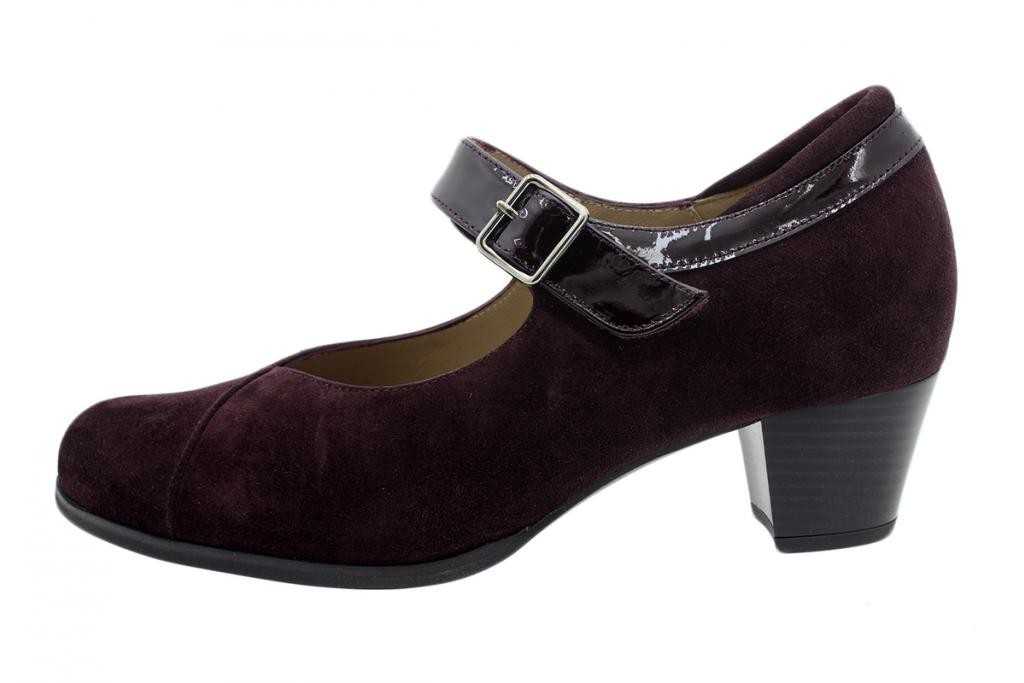 Mary-Jane Bordeaux Suede 195463