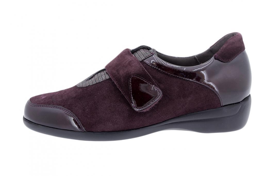 Velcro Shoe Bordeaux Patent 195576