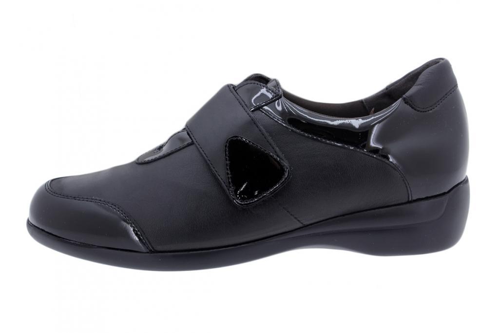 Velcro Shoe Black Patent 195576