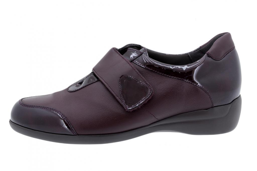Velcro Shoe Bordeaux Patent 195576