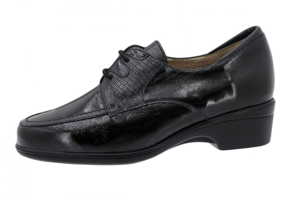 Lace-up Shoe Black Patent 195601