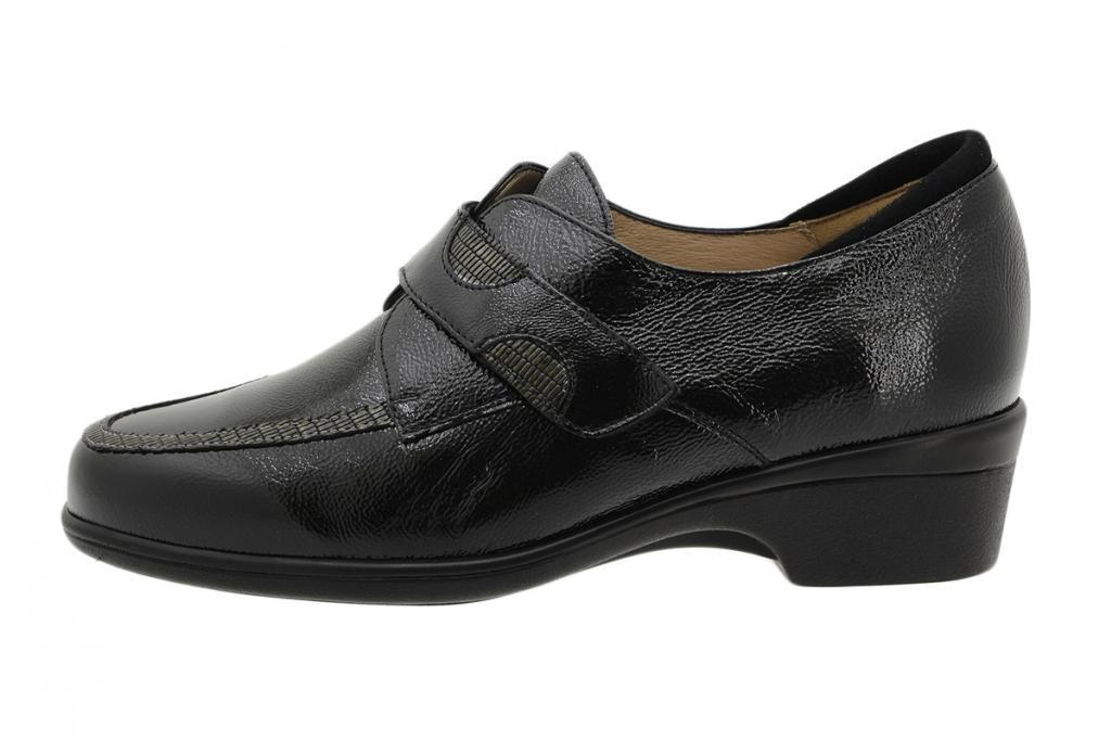 Velcro Shoe Black Patent 195602