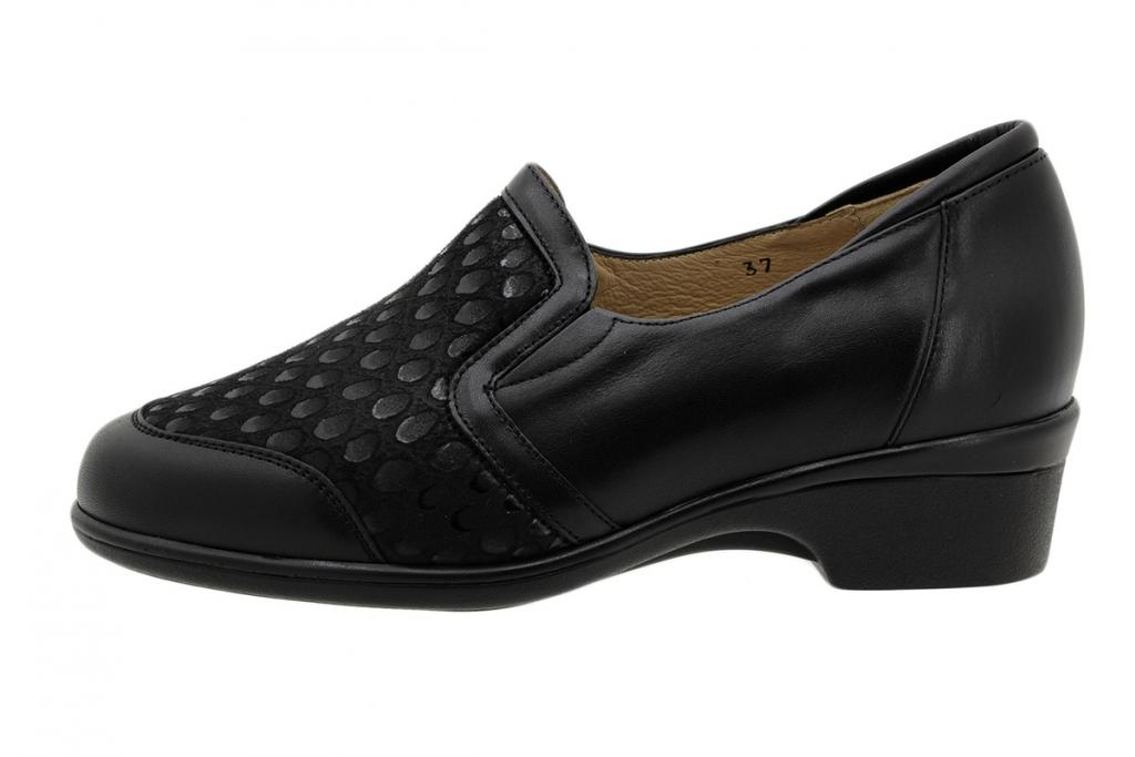 Stretch Shoe Black Leather 195614