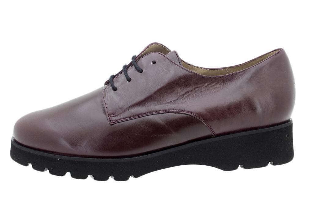 Lace-up Shoe Bordeaux Leather 195675