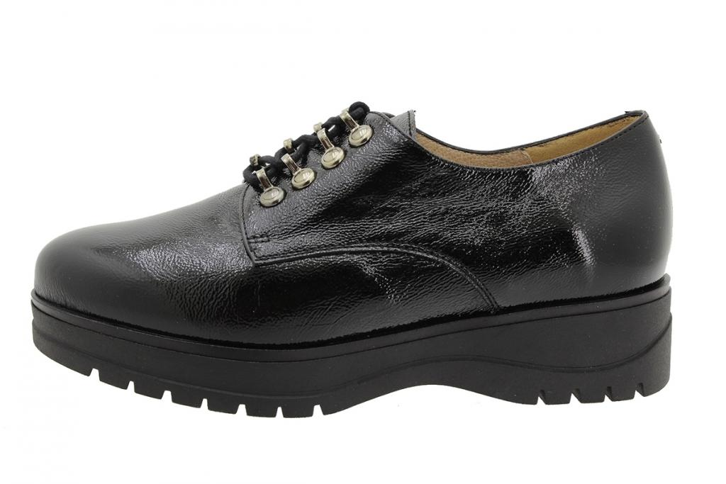 Lace-up Shoe Black Patent 195676