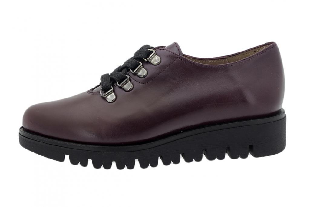 Lace-up Shoe Bordeaux Leather 195678